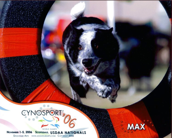 Max at the Nationals in 2006, Photo by Doghouse Arts