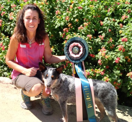 MACH4 Maizey with Anne and her ribbon